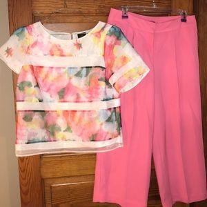 Worthington Floral Blouse and Pants Medium 4